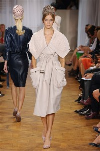 Lingerie Collections from Nina Ricci for Spring 2012 in blank bright colors pajamas