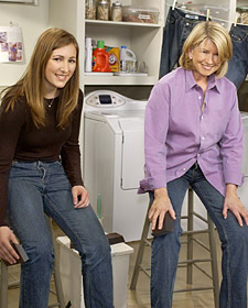 Martha Stewart in jeans